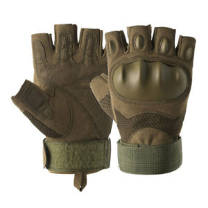 Tactical Rubber Knuckle Gloves Army Military Combat Paintball Training Mittens