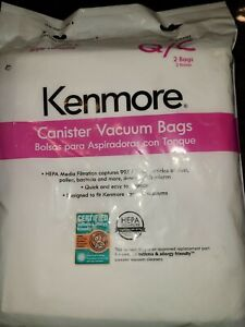 Kenmore 53291 Style Q HEPA Vacuum Bags - 2 Pack
