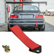 Red High Strength Sporty Racing Tow Strap Kit for BMW GT M3 M5 Front Rear Bumper