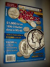 Coin Prices Magazine September 2008 BARBER DIMES - 1878-CC Trade Dollar- Gold