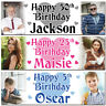 2 Personalised Birthday Banner Photo Hearts Children Baby Adult Party Poster