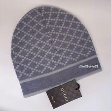 0dc03697e Gucci Gray Diamante Print Winter Wool Ski Skull Cap Beanie Hat 281600