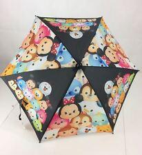 Tsum Tsum Disney Umbrella NWT Mickey Minnie Pooh Olaf Stitch Black New Age 3+