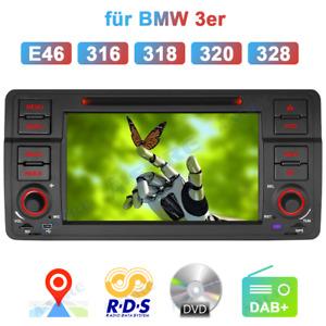 "7"" GPS DVD CD Navigation Autoradio USB VMCD RDS DAB+ Für BMW E46 3er 318 330 325"