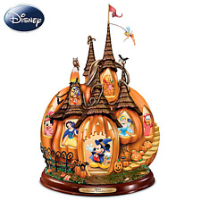 Disney's Enchanted Pumpkin Castle Illuminated Halloween Sculpture Bradford NEW