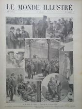 LE MONDE ILLUSTRE 1905 N 2499 A LA BOURSE DU TRAVAIL: LA SALLE DES GREVES DES MI