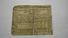 1768 Two Shillings Six Pence North Carolina NC Colonial Currency Note Bill!