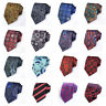 Men High Quality Floral Paisley Jacquard Necktie Wide Party Wedding Business Tie
