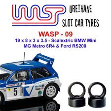 uretano Coche Ranura Neumáticos x 4 WASP 09 20 8x 3 3.5 compatible scalextric