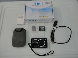 Samsung ES67 Compact Digital Camera Package Black 27mm Lens 5x Zoom - 10.2 MP