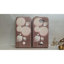 custodia cover flip magnetica FSO VERTICALE per Htc Desire 516 fiori GLAMOUR