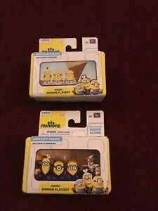 Egyptian & Gone Batty Minions 3 Figures W/Micro Minion Playset Full Color Scenes