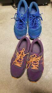 ASICS Gel Nimbus Women's Size US 9.5 Running Shoes Blue Purple Lot 2 T684N