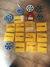 Lot 8mm Home Movie Reels, etc. Ice Capades, Hockey, Motorcycle, Liberty Dam