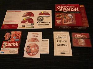 3 DIFFERENT LEARN TO SPEAK SPANISH CD-ROM SETS, FOR COMPUTER, LEARNING COMPANYE