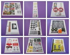 Lego Original Sticker Sheet (Various Available) - Please Choose One Needed *New*