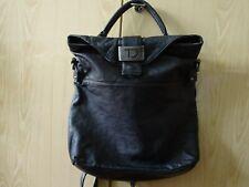 Taschendieb Wien Rucksack/ Tasche, Modell Kohlmarkt schwarzes Echtleder