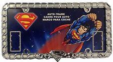 DC Comics Superman Chain Heavy Duty 3D Chrome Metal Auto License Plate Frame