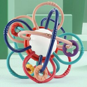 Baby Toddlers Crib Stroller Soothing Shaking Spinning Teething Teether Ball Toy