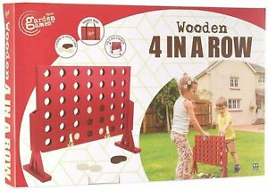 Garden Games Wooden 4 in a Row Connect Four Family Game Kids Large Toy Playset