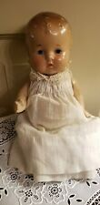 Antique Composition Baby Doll Great Clothes sits well. tight body