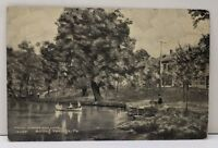 Boiling Springs Pa Front Street And Lake 1909 to Harrisburg Pa Postcard F8