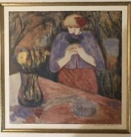 Make Offer(s): Rare Barbara A Wood Art in a fine frame. Signed and Artist proof.