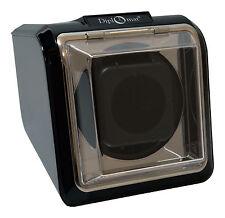 Single Square Watch Winder Automatic Case Box Storage Timer black Diplomat