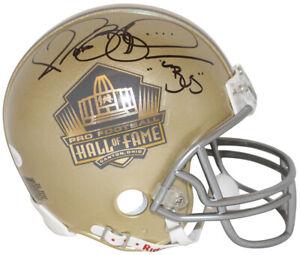 Jerome Bettis Autographed/Signed Hall Of Fame Gold Mini Helmet Bus JSA 31868