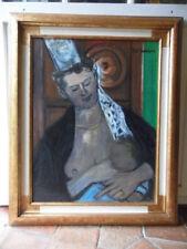 """Tableau peinture """"Maternité""""  Vierge à l'enfant, peintre breton TAL'HOUARN 1950"""