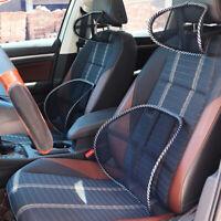 Siège de voiture Coussin de ventilation frais soutien lombaire dossier en maille