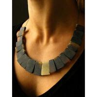 Collier, Halskette, balt. SCHWARZER Bernstein, amber necklace, Silber 925, NEU