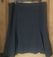South Womens Flared Skirt Office Smart Pin Stripe Lined Uk Size 22 Grey BNWT