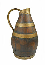 Antique Staved Oak Iron Bound Oak Wine or Cider Jug, Decanter, French.