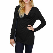 Polyester Cowl Neck Regular Size Tops & Shirts for Women