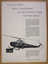 1957 Cessna YH-41 YH41 US Army Helicopter photo vintage print Ad