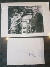 SIGNED Peter Cushing OBE Page! Dr Who Star Wars Hammer Horror Sherlock Holmes
