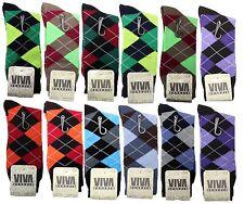 New 12 Pairs LORD Mens Viva Argyle Dress Socks Fashion Casual Cotton Dozen 10-13