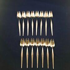 15 Pastry Fork Noritake Simplicity 18/8 Japan Stainless Flatware Silverware