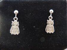 Piccolo GUFO orecchini in argento 925 millesimi