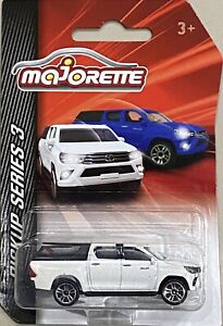 Majorette Pickup Series 3 Toyota Hilux White With Clip-on Canopy