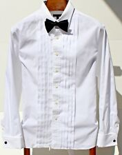Burberry London 16 / 34 White Ten-Pleat French Cuff Formal Shirt - USA - $425.00