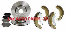NISSAN NOTE 1.4 1.5 DCi 1.6 FRONT BRAKE DISCS AND BRAKE PADS AND REAR SHOE SET