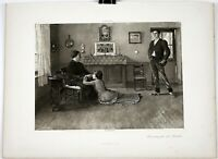 "JEAN-EUGENE BULAND Print Photogravure French Engraving 1800s 15.5"" x 11.5"""