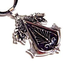 ASSASSINS CREED BROTHERHOOD LOGO PENDANT spearhead & wings insignia necklace 1V