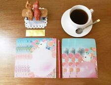 Kawaii Cute Jetoy 6 Writing Papers & 3 Envelopes Letter Set- Pink rose