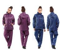 Ladies Waterproof Suit Jacket Trousers Water Resistant Set