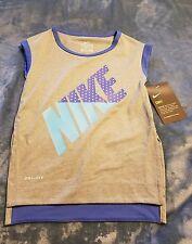 Nike girls shirt athletic cut shirt in gray dri-fit  size 3T nwt