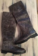 New Alexander Wang $1250 Gray Leather Tall Georgia Riding Boots Size 40