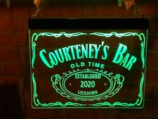 More details for 590mm x 410mm led neon bar sign own design name personalized custom  man cave